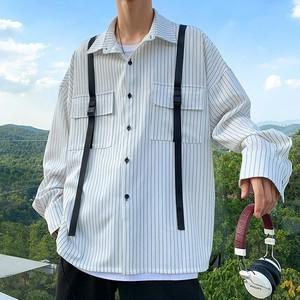 ストライプポケットルーズシャツ BL5585
