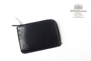 ホワイトハウスコックス|WHITEHOUSE COX|三越銀座店限定|ブライドルレザーLジップスリム財布|S1939|ブラック