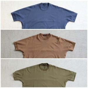 kemit【ケミット】ドルマン型 スーピマコットン Tシャツ BLUE/MOCHA/KHAKI