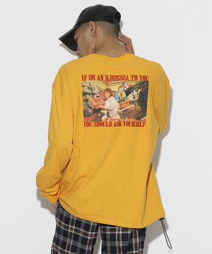 Your self Long sleeve T-shirt [Yellow]