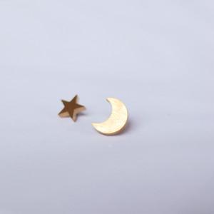 星と月のアシンメトリーゴールド
