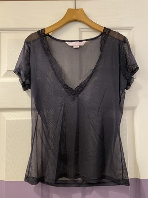 lace sheer tops