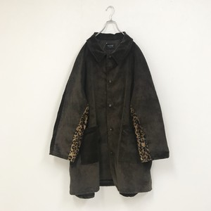MIX CORDUROY COAT(BROWN)