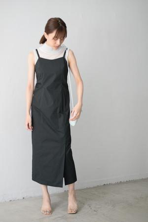 ROOM211 / Cotton lace up Dress (black)
