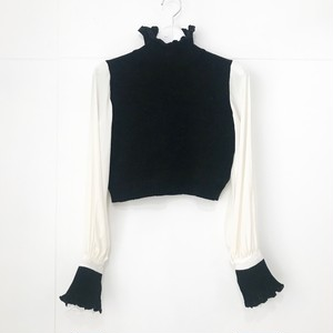 YUKI SHIMANE Bishop sleeve Knit top / Black