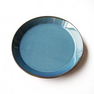 丸プレート (中) 北欧ブルー(20.2cm)