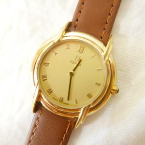 FENDI Watch -Gold×Brown-