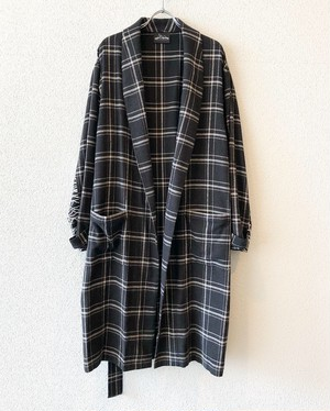 "DARK【18056】HERRINGBONE CHECK NEL GOWN ""DARK CHECK"