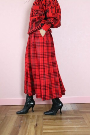 Christian Dior Plaid box pleat skirt
