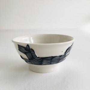 砥部焼 atelier chie お茶碗 左馬 福