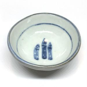 【砥部焼/佐藤窯】高台小鉢(アスパラ)