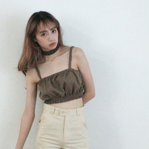 frill gather camisole (S19-01119K)