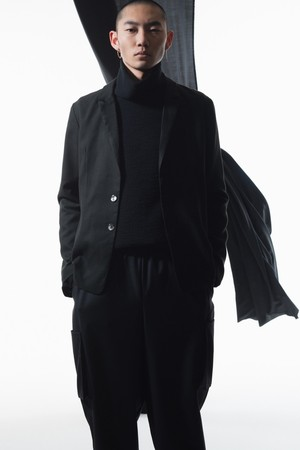 kujaku 19A/W 花韮(hananira)jacket black