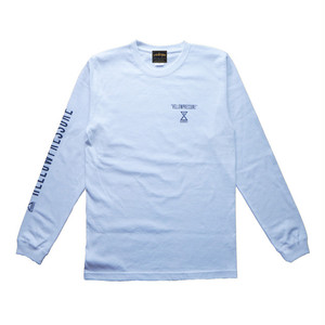 【HELLOWPRESSURE L/S TEE】white/charcoal