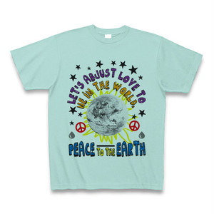 ASH DROP PEACE TO THE EARTH Tシャツ(アクア)
