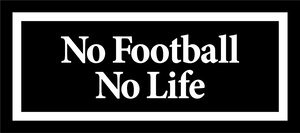 No Football No Life BOX LOGO STICKER BLACK