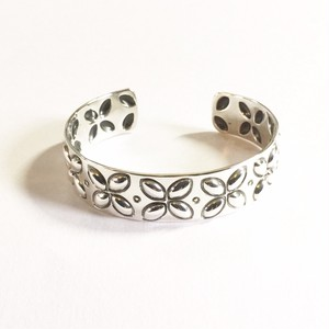 "North Works ""900silver Stamp Cuff Flower"""
