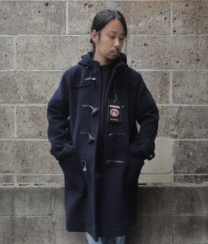 INVERTERE (インバーティア) NEWTON ABBOT LONG DUFFLE COAT ネイビー
