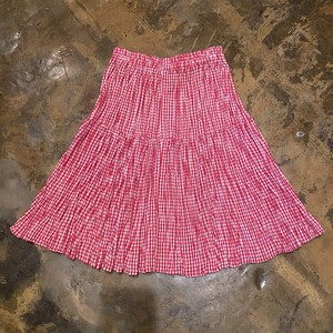 Gingham check skirt / USA