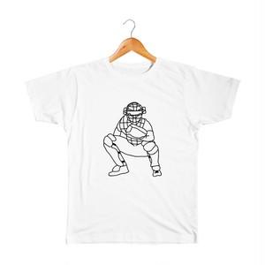 キャッチャー キッズTシャツ