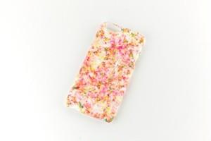【 S A L E / 即 納 】ピンクとキイロの、木漏れ日のスマホケース