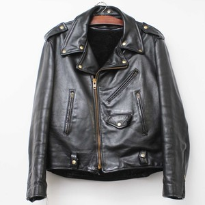80'S 極上 vintage leather riders jacket   48
