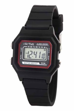 【新商品】[キッズ腕時計]ブラック デジタル液晶 ライト 10気圧防水 CAC-109-M01