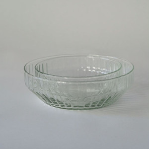 """ Reuse glass  Dish bowl L """