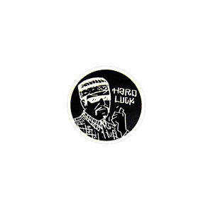 HARD LUCK - FREE RIDE STICKER (Black) 62mm