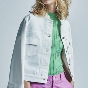[SALE]sieste peau(シエスタポー) Stand Collar Denim Jacket [定価32000円]