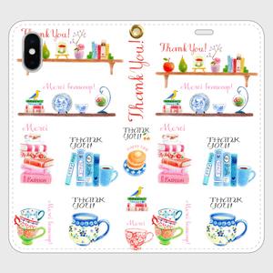 【iPhone X/XS 手帳型】Thank you のスマホケース_01