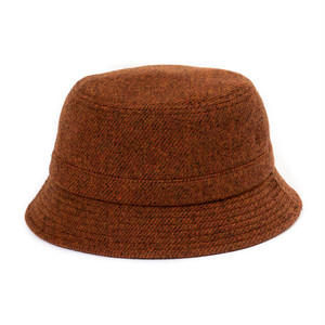 "Just Right ""Wool Twill Bucket Hat"" Brown"