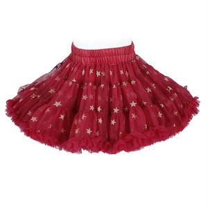 2951キッズ スカート チュチュスカート チュールスカート 女の子 TUTU 韓国子供服 ふわふわ 可愛い 子供用 発表会 ダンス ステージ衣装 赤