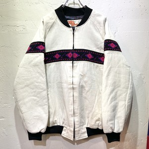 80's Comfy casual switched blouson white made in USA