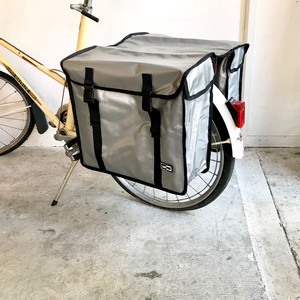 """LASTPAK"" Bicycle Side Bag / SILVER オランダ 46L"