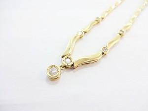 【完売しました】豪華6石 ダイヤモンド ネックレス K18 0.39ct