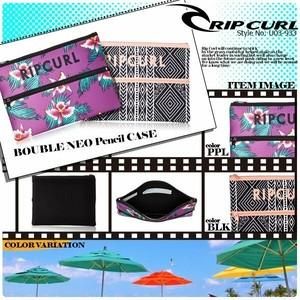 U03-933 リップカール タブレットケース クラッチバッグ ユニセックス おすすめ 人気ブランド 花柄 ボタニカル BOUBLE NEO Pencil CASE RIP CURL