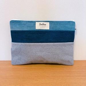 Denim clutch (Gray sweat) S114