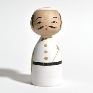 天使こけし(おっちゃんゴールド) 約3.5寸 約10.5cm 平賀輝幸 工人(作並系)#0017