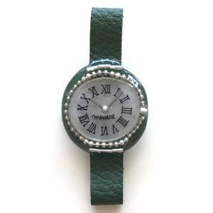 キャトルシス 腕時計ブローチ / グリーン