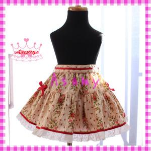 【90~110センチ】バラ柄 ティアードスカート