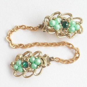 green beads sweater clip[s-203]