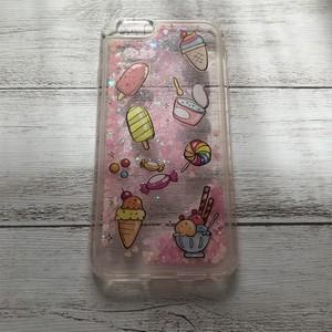 #000-197ip6 iPhoneケース 送料無料 スイーツ キラキラ グリッター ケース 可愛い iPhone6/6s 人気 女子 セール タイトル:お菓子の詰め合わせ