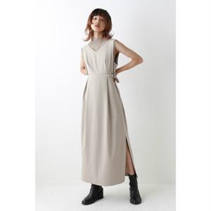 Side belt dress - Beige