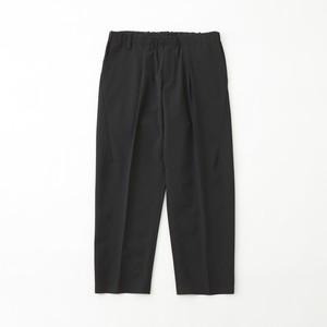 SOLOTEX STRETCHED BELTLESS DARTED PANTS - BLACK