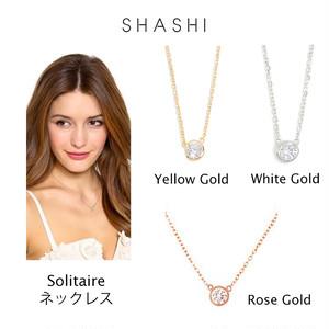 SHASHI Solitaire Necklace ゴールド ローズゴールド シルバー 3色 18K シャシ ネックレス レディース アクセサリー ジュエリー プレゼント