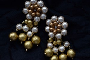 vyuha tsubaki cotton perl earring/pierce gold