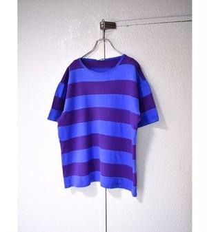 cotton ティアード ボーダー Tシャツ