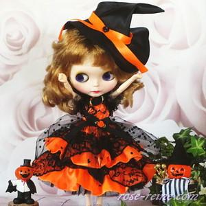 ハロウィンにも最適な魔女っ娘バージョン 萌え可愛いロリータプリンセスワンピース