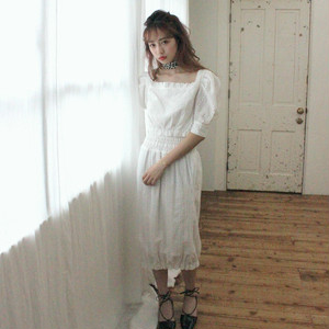 【lottie made】cotton cocoon skirt (S19-03037O)